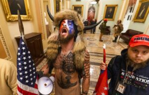 Once inside the Capitol, it was like a frat party